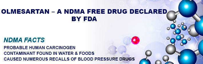 Olmesartan – A NDMA Free Drug Declared By FDA